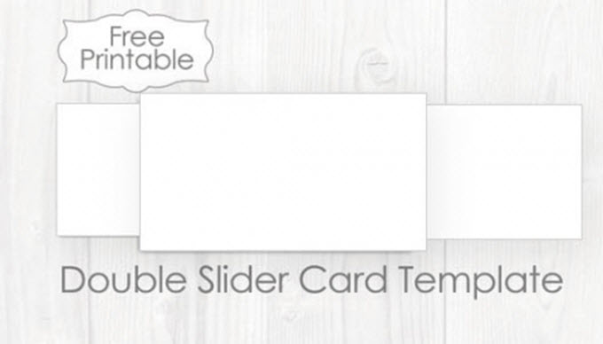 Blank Double Sliding Reveal Card Template