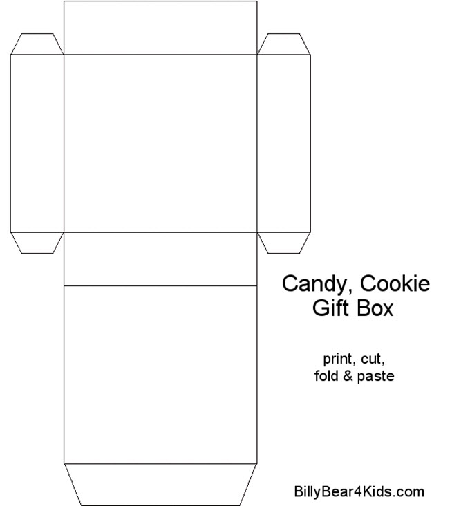 Printable Cookie Box Template