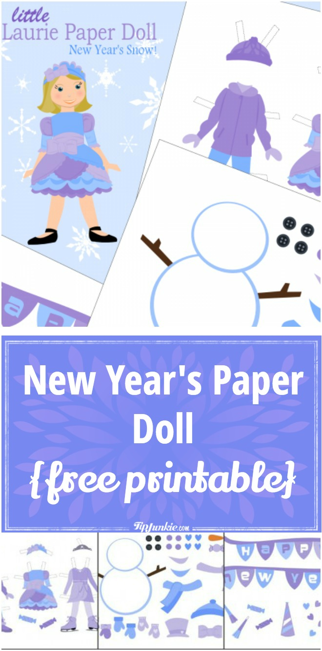 New Years Paper Doll ~ {free printable}