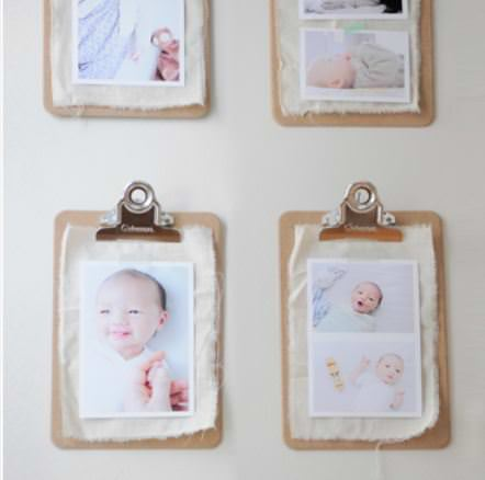 Shabby chick Clipboard Wall Gallery