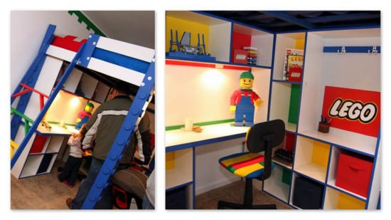 Lego Loft Bed with Storage