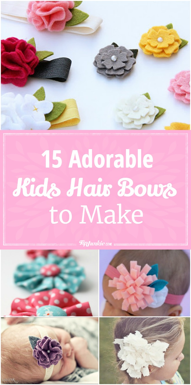 15 How to make hair bows for babies, teens and even yourself! So pretty!
