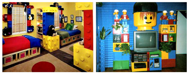 lego brick bed i could only find one image of this lego bedroom but how easy would it be to add wood cylinders to the bed and then paint it to - Boys Room Lego Ideas