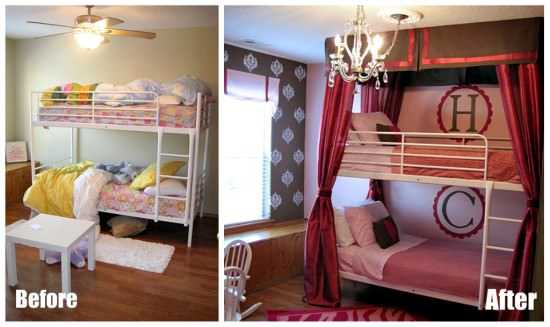 before and after girls bedroom
