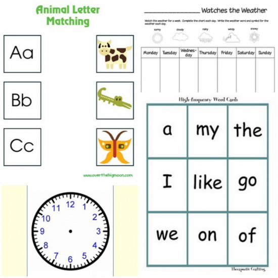 16 letter matching printable these free - Free Printable Preschool Activities