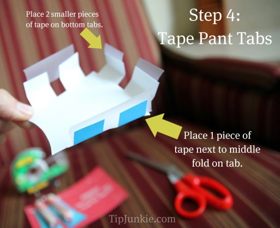 Step 4: Place Tape onto Pants.