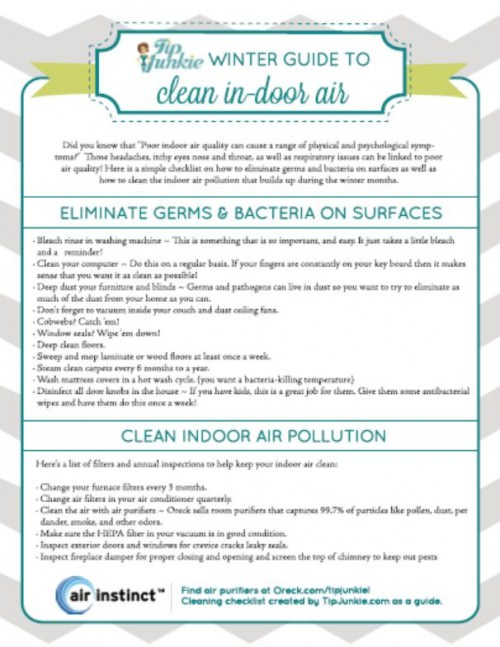 winter clean air printable