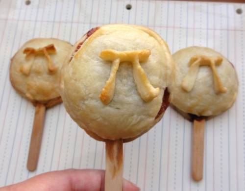 Pi Day Strawberry + Nutella PIes on a Stick