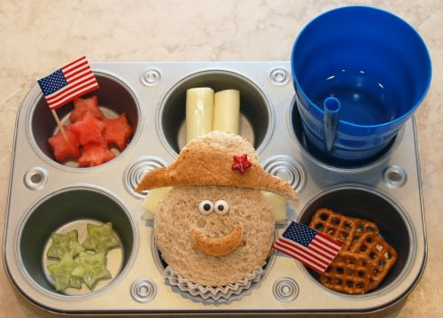 Presidents' Day Muffin Tin Meal