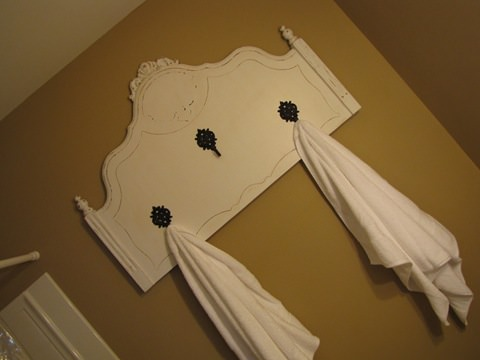 How to Turn a Headboard into a Towel Rack