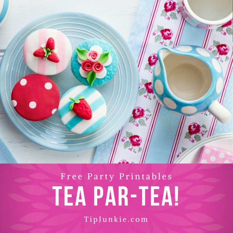 Darling Tea Party Printables to Par-TEA on TipJunkie