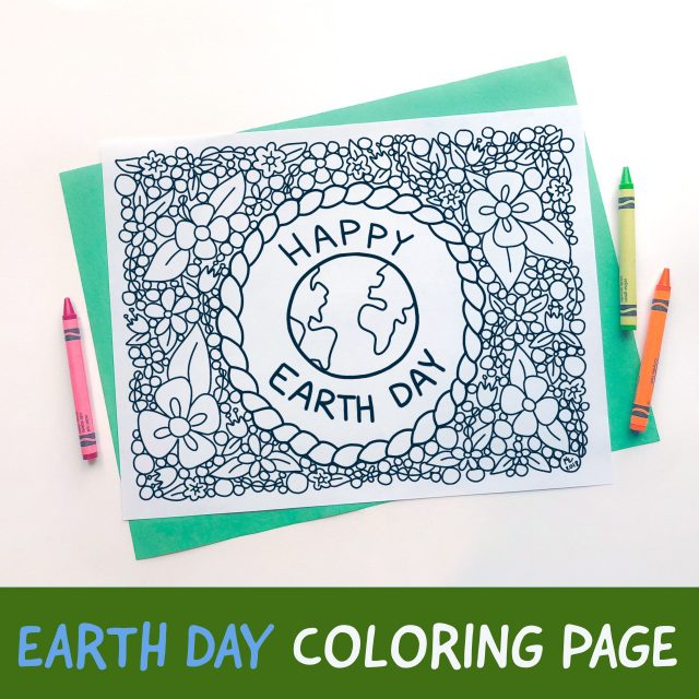 Earth Day Coloring Page Free Printable