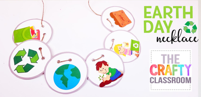 Earth Day Printable Necklace for Kids