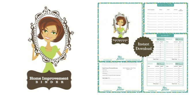 Home Improvement Planner Free Printale