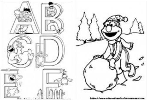 11 Images Of Elmo Abc Coloring Pages Sesame Street Alphabet