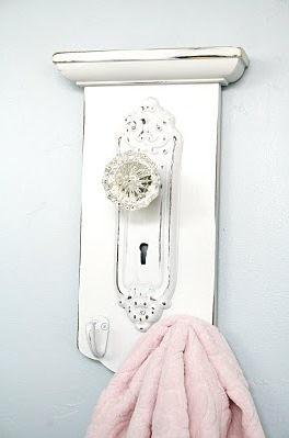 Thrift Store Bath Decor Towel Hook
