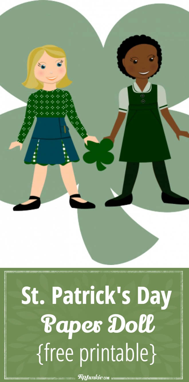 St. Patrick's Day Paper Doll {free printable}