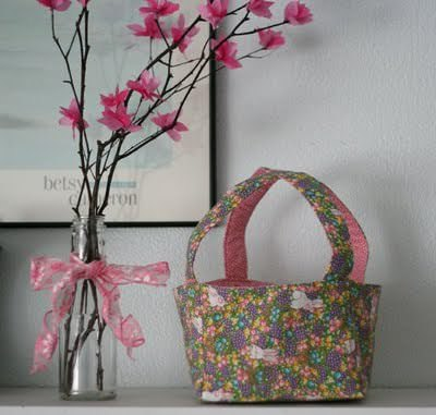 Cris Cross Fabric Basket