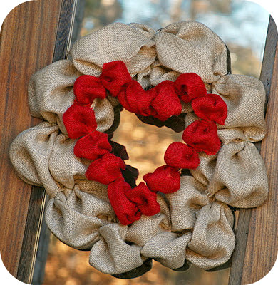 How to Make A Burlap Heart Wreath