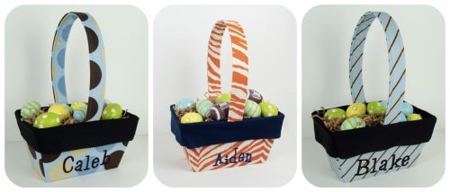 Boys Easter Basket Tie Stripe