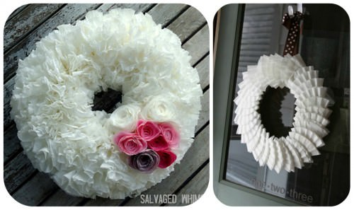 Coffee Filter Wreath Tutorials