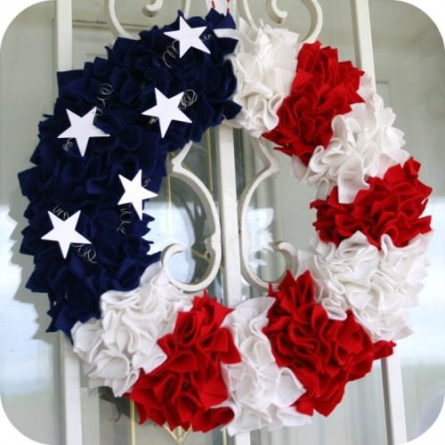 Felt Patriotic Wreath Tutorial