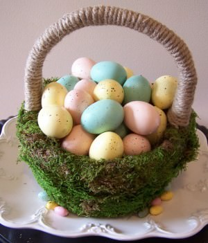 How to Make a Moss Easter Basket
