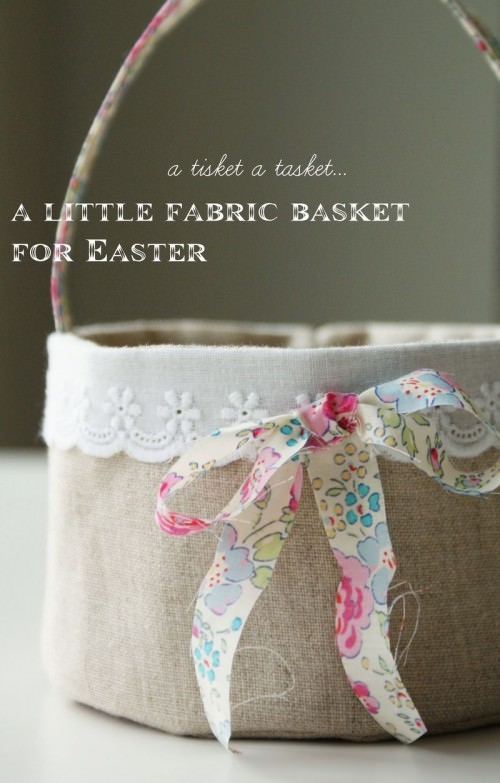 38 easy easter basket tutorials to make free templates tip junkie fabric easter basket tutorial negle