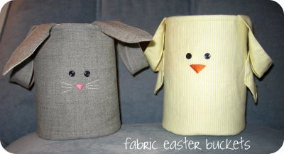 Sew Fabric Easter Buckets