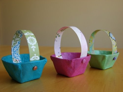 Tiny Egg Carton Mini Easter Baskets