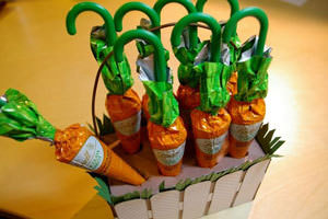 How To Make A Carrot Easter Basket