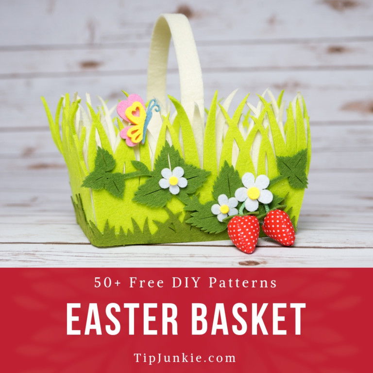 50 Free DIY Easter Basket Ideas to Make