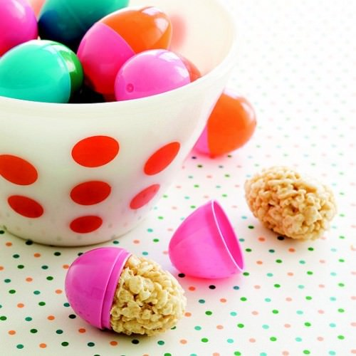 Egg-Shape Rice Crispy Recipe