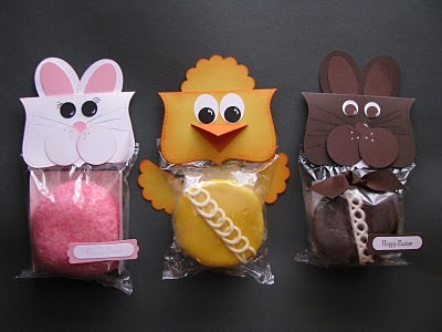 Easter Bunnies and Chick Party Favor Toppers
