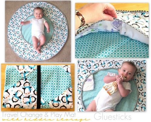 Travel Play Mat with Hidden Storage {Free Pattern}