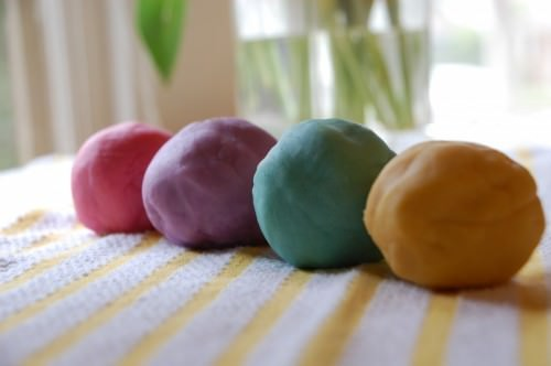 Rainbow Play Dough recipe