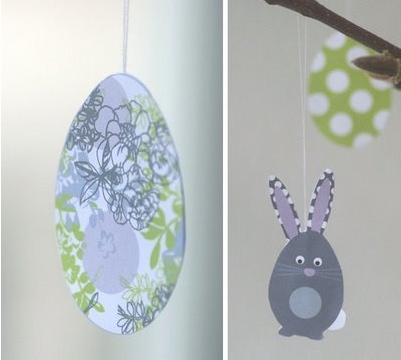 Hanging Easter Egg Printable