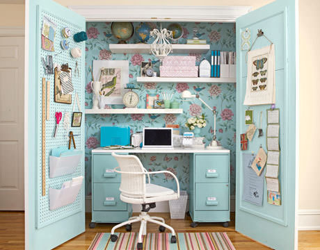 Not Only Is It Functional But Also Very Well Decorated! Use This Post As  Inspiration To Create Your Own Craft Closet Workspace!