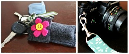 Felt Chapstick Case Key Chain {How-To}