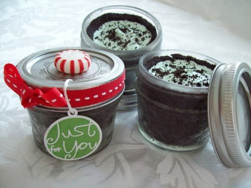 Mini Grasshopper Pies in a Jar