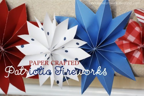 Paper Crafted Patriotic Fireworks Tutorial