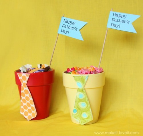 Candy Filled Tie Pot Tutorial