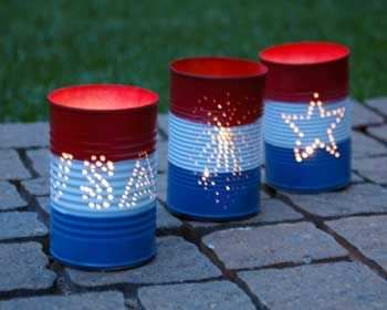 Repurposed Can Luminaries