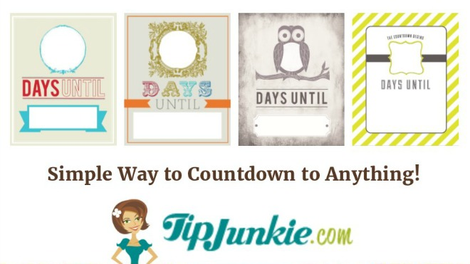 4 Printable Countdown Calendars by Tip Junkie