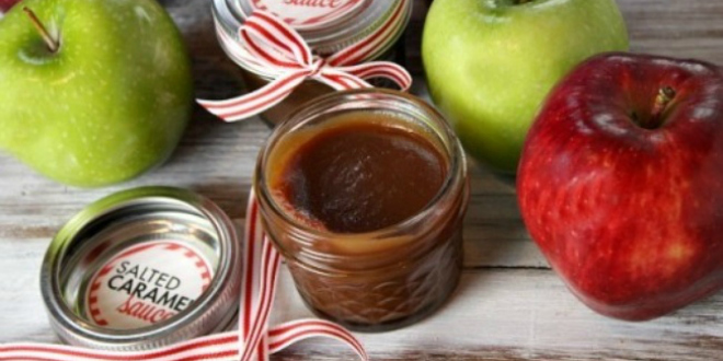Salted Caramel Sauce Gift in a Jar Recipe