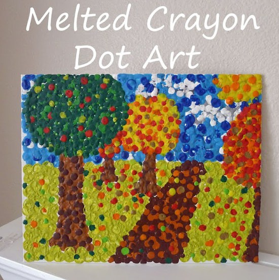 crayon dot art