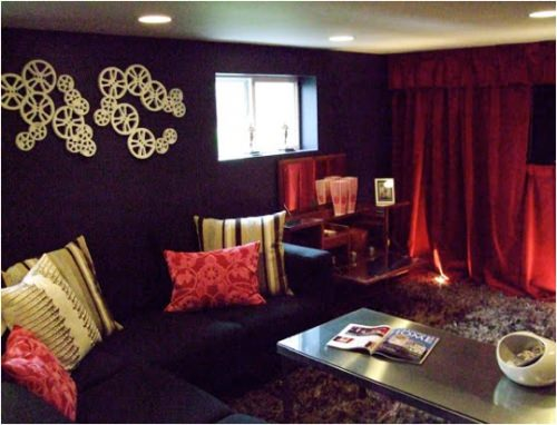 DIY Media Room Makeover