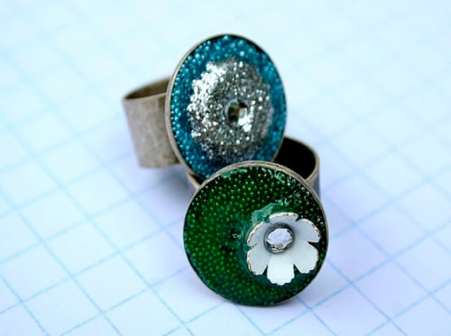 Embellished Resin Rings