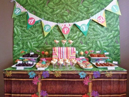 Island Themed Tablescape 50th Birthday