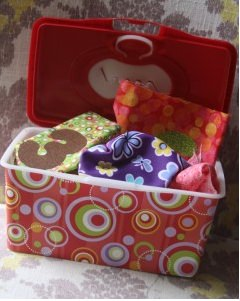 diaper wipe container into toy
